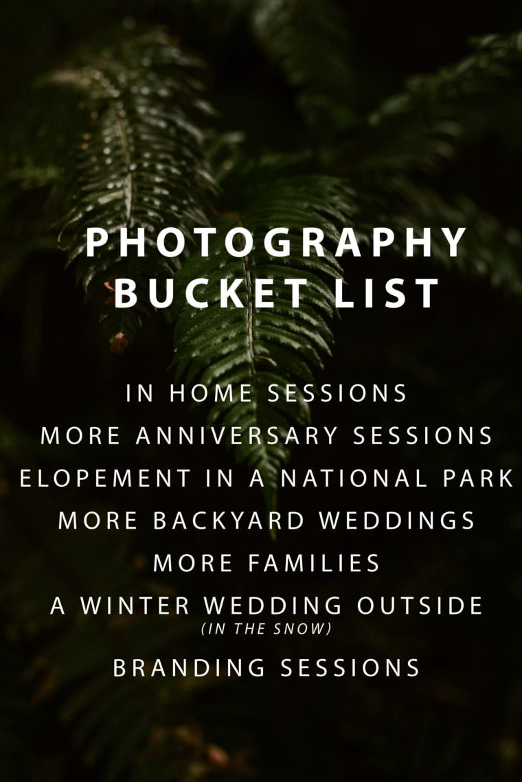Photography Bucket List