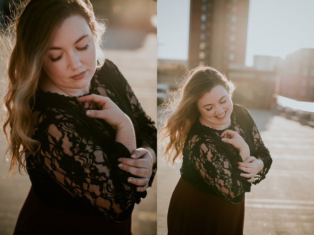 Madison Anniversary Session with lace gown - Natural Intuition Photography