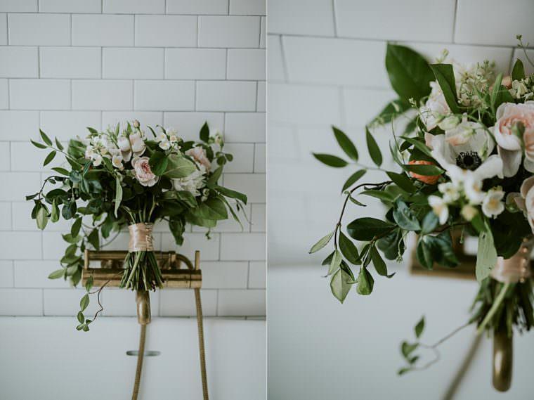 Blush and White Wedding floral - Onesto Wedding in Milwaukee Wisconsin - Milwaukee Wedding Photographer