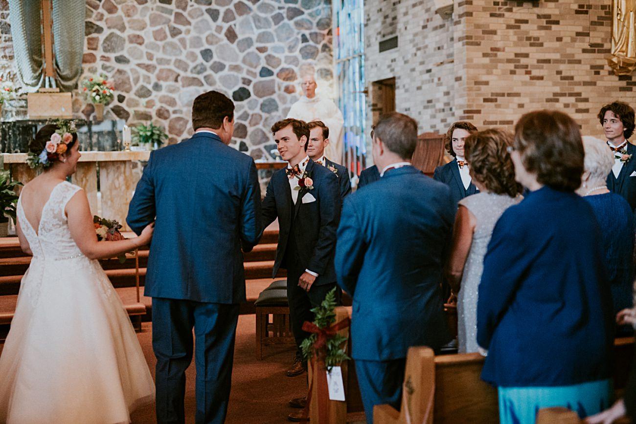 Geneva National Resort Wedding in Lake Geneva, Golf Course Wedding, Jewel Toned Wedding Dresses, Navy Suits for Groomsman - Lake Geneva Wisconsin Wedding Photographer - Natural Intuition Photography