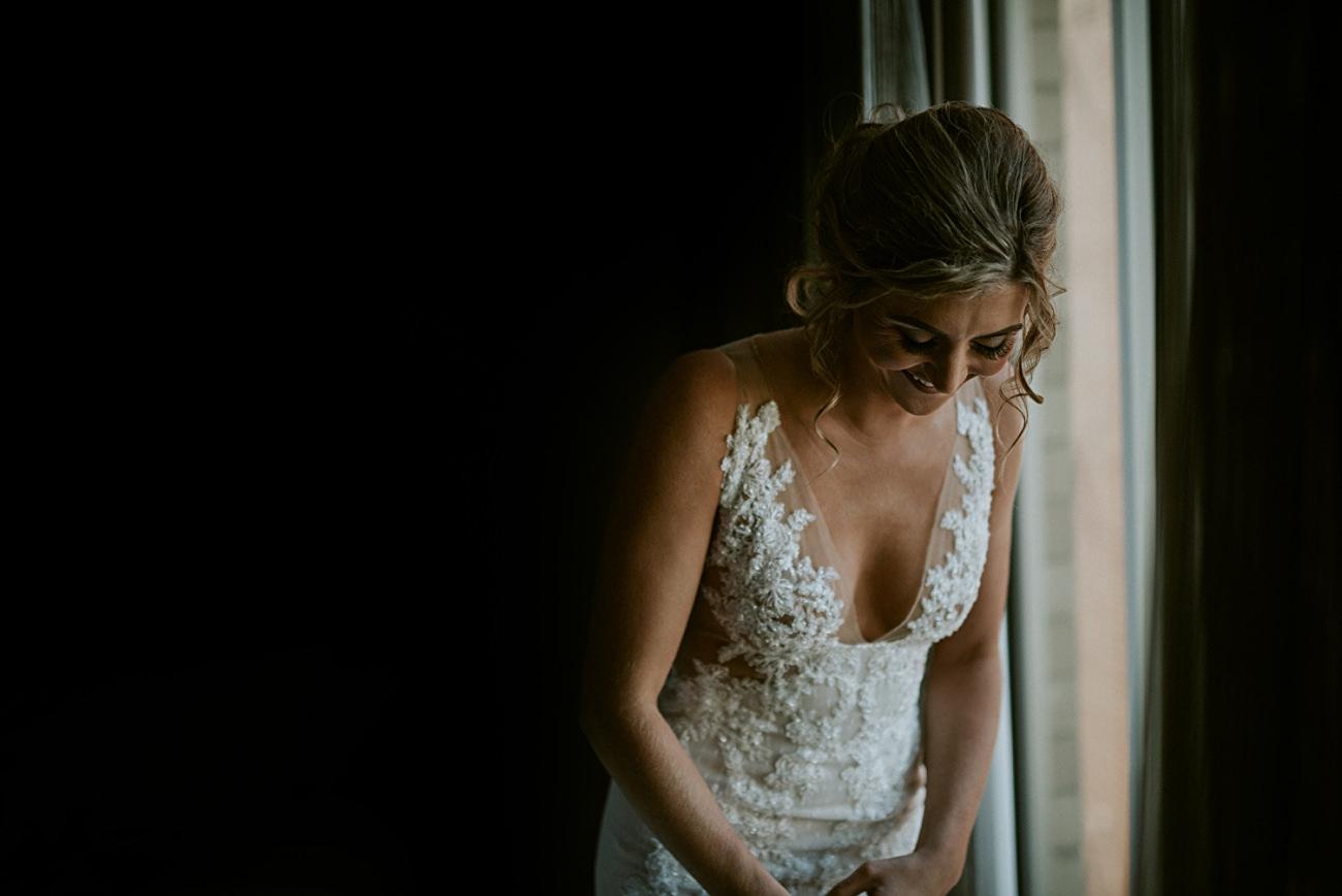 Bride Getting Ready, Lace Wedding Dress, Century Barn Mt Horeb Wisconsin Wedding, AC Hotel Madison WI, Barn Weddings, Madison WI Wedding Photographer