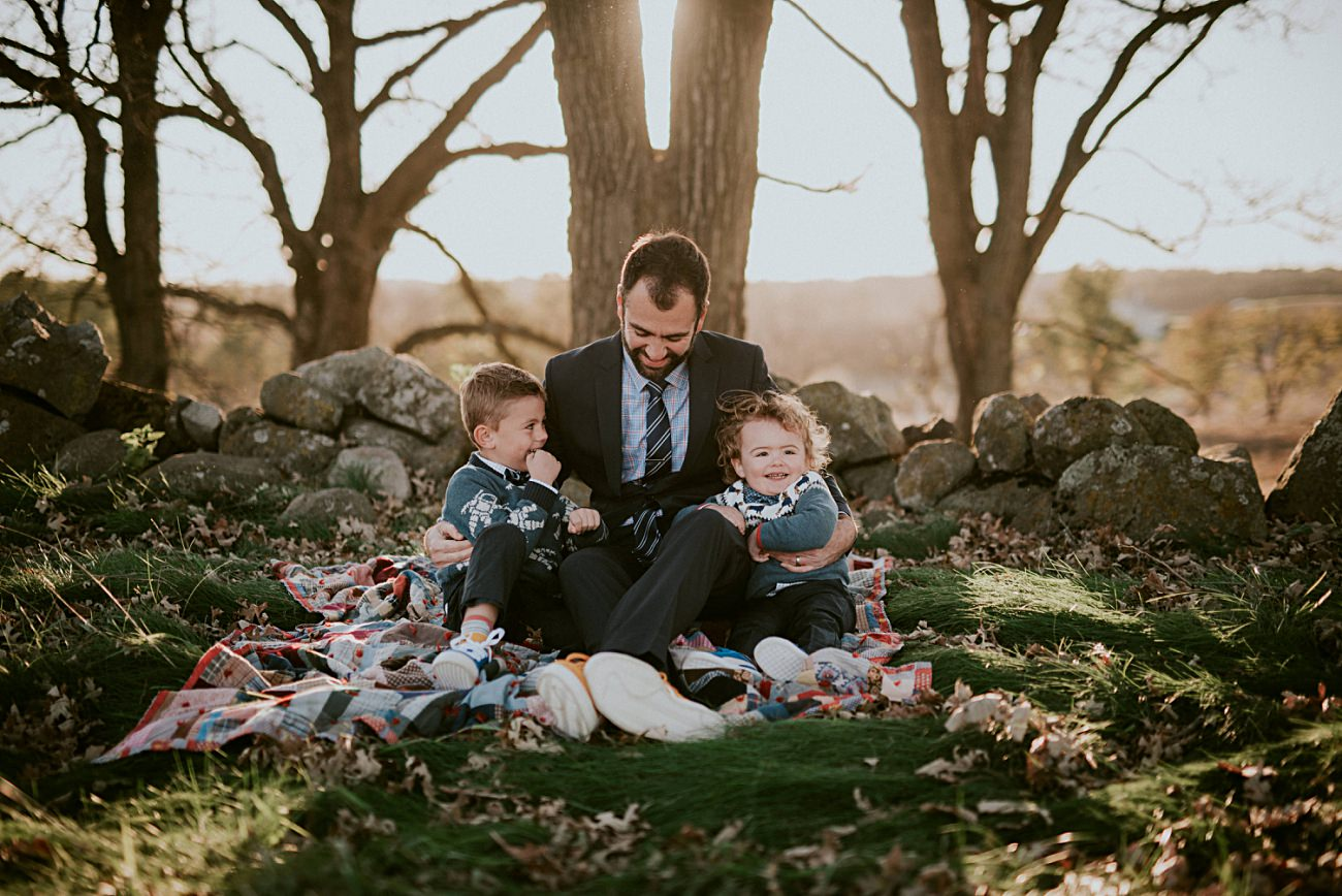 Dad and sons, Mom and sons, Madison Family Photographer - Fall Family Photography - natural intuition photography