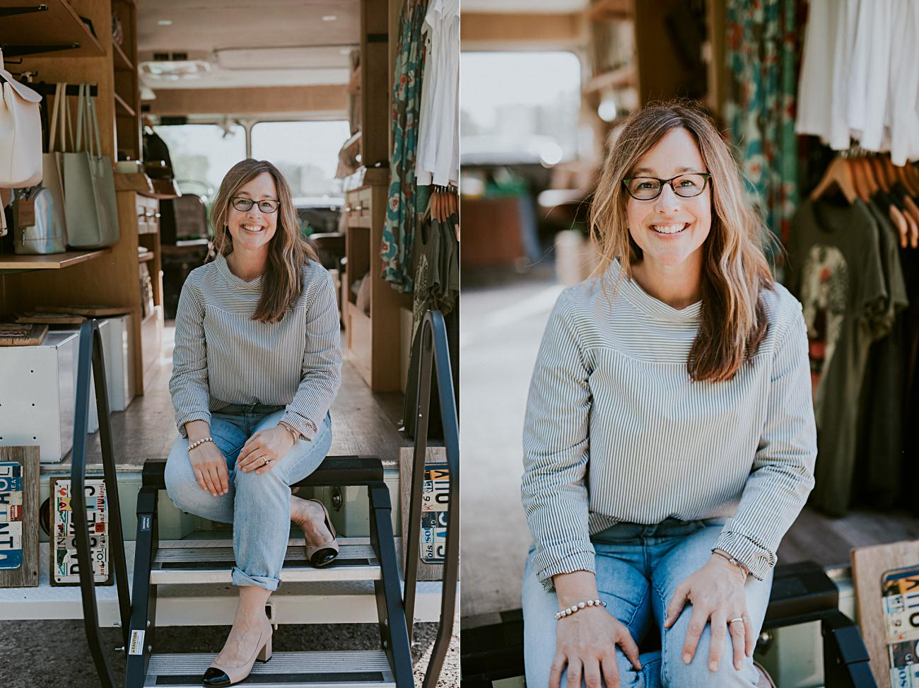 Headshot Photography, Branding Photography in Madison Wisconsin, Truck Boutique, Product Photography, Commercial Photography, Shop Small, Madison Wisconsin